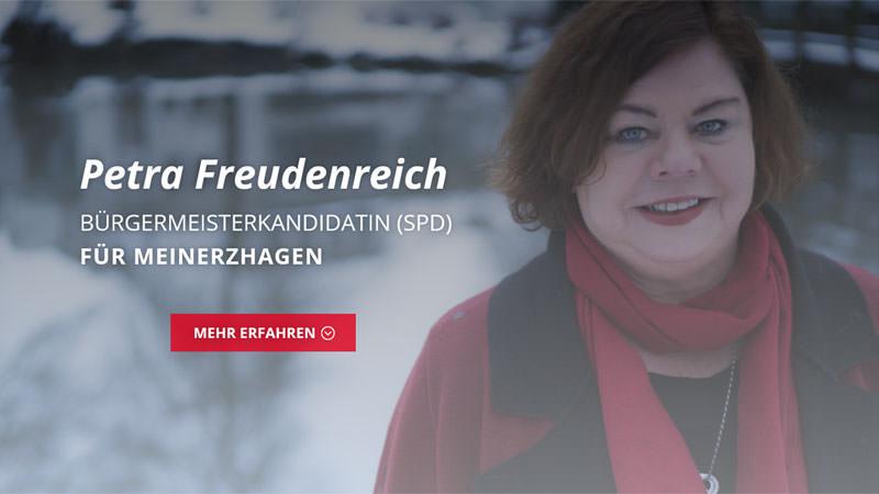 Freudenreich für Meinerzhagen – Petra Freudenreich, Bürgermeisterkandidatin